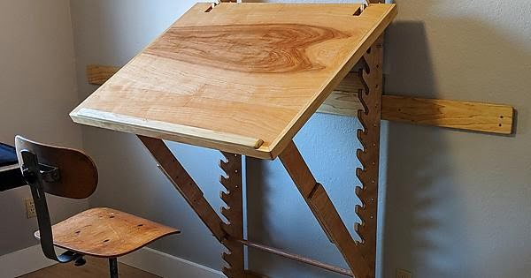 DIY Art Desk with adjustable height and angle