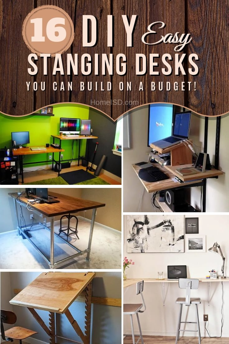 Swtich to a standing workspace by building one of these great DIY standing desks. Great list of ideas! #DIY #furniture #homeoffice