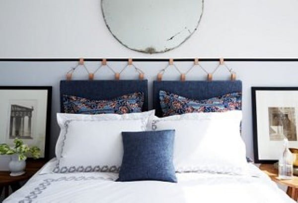 DIY Headboards hanging on the wall