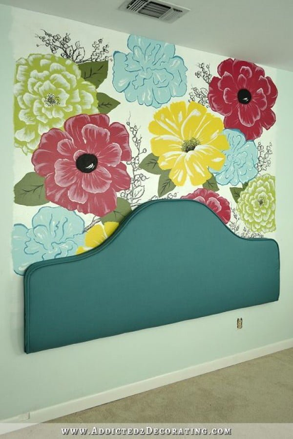 DIY Upholstered Headboard With Welt Cord Trim