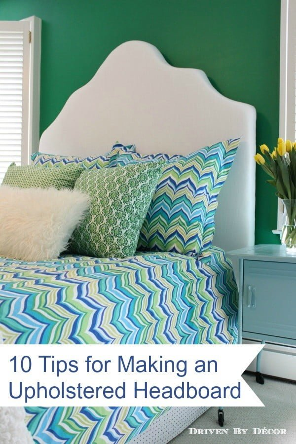 How to Make a Simple Upholstered Headboard | Driven by Decor
