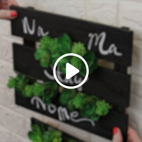 Super Easy DIY Wall Planter