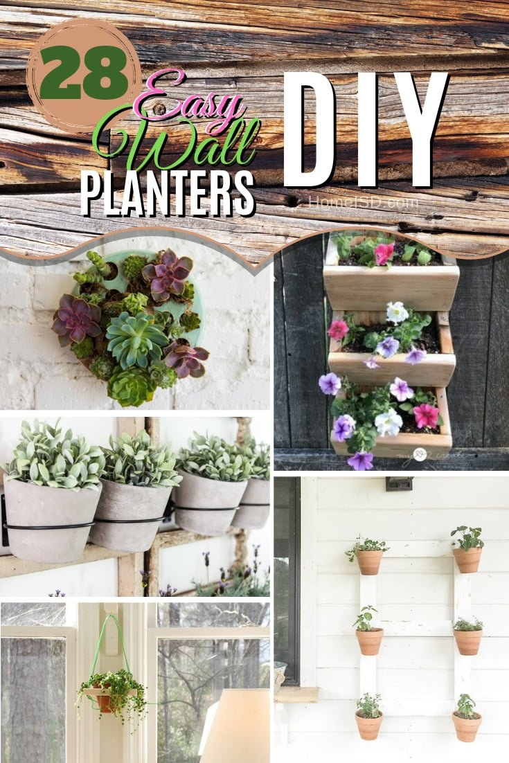 Bring the live greenery to your walls. Choose from these amazing DIY wall planters. Great list! #DIY #walldecor #homedecor