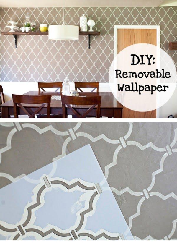 How to Make Removable Wall Paper #DIY #walldecor #homedecor