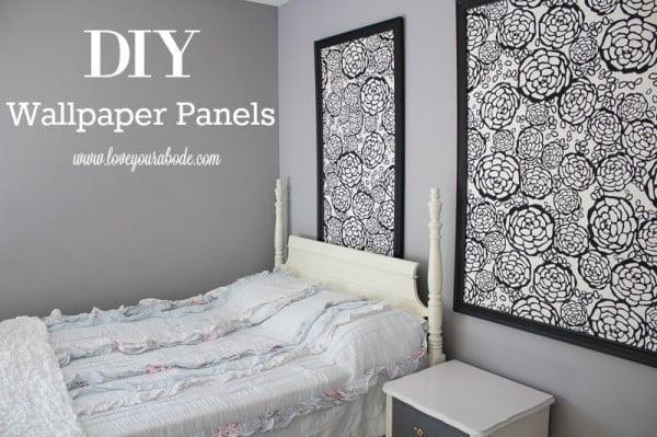 DIY Wallpaper Panels #DIY #walldecor #homedecor