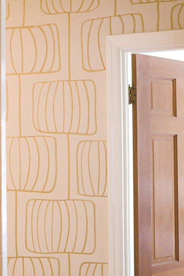 DIY Wallpaper: Drawing on the Walls #DIY #homedecor #walldecor