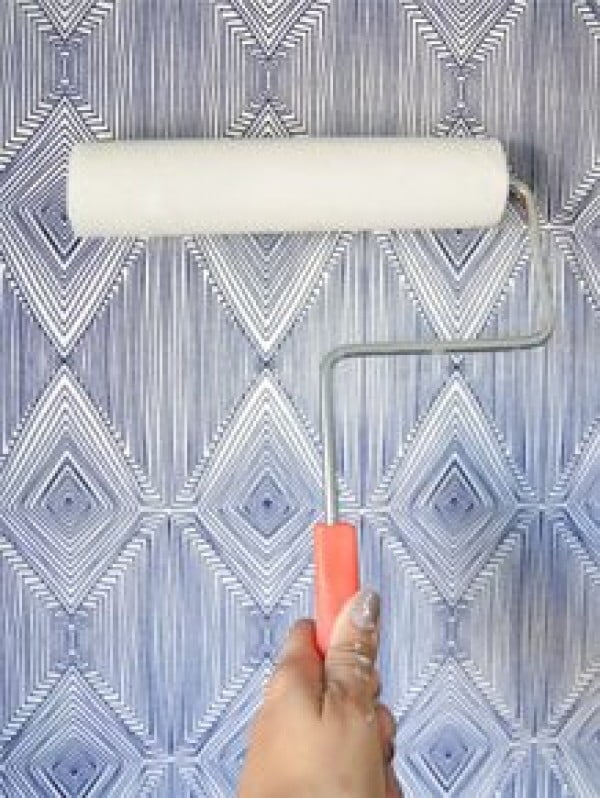 DIY Temporary Fabric Wallpaper • Vintage Revivals
