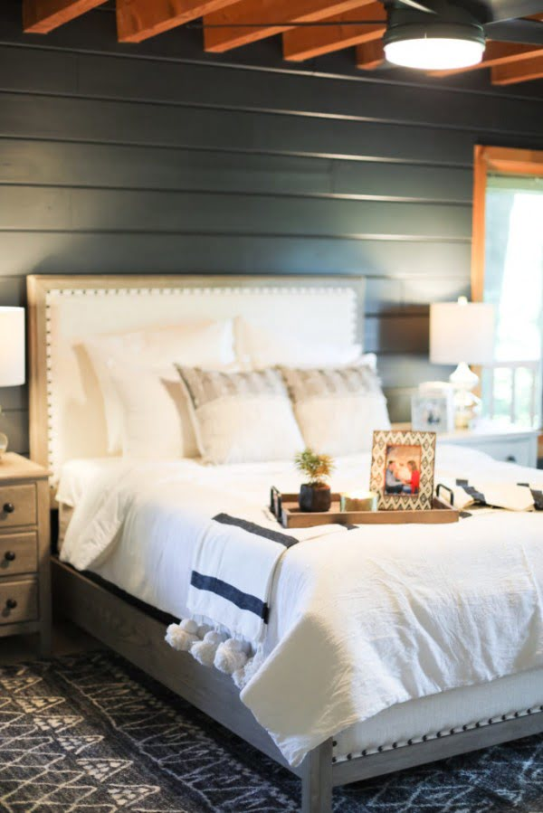 Log Cabin Master Bedroom Reveal