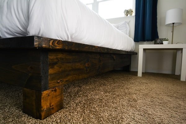 Rustic Platform Bed with Legs