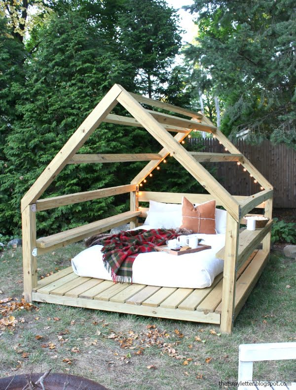 DIY outdoor cabana retreat #DIY #woodworking