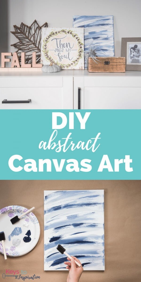 DIY Abstract Canvas Art » Keys To Inspiration