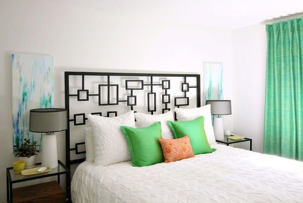 DIY Abstract Art for the Bedroom