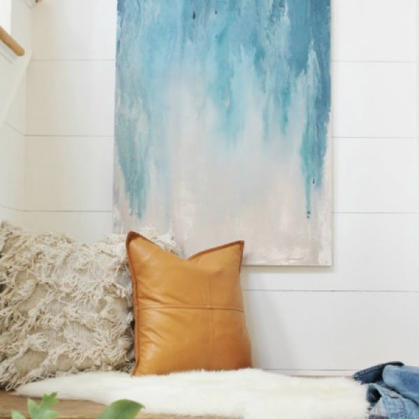 DIY Abstract Art Using Paint Samples