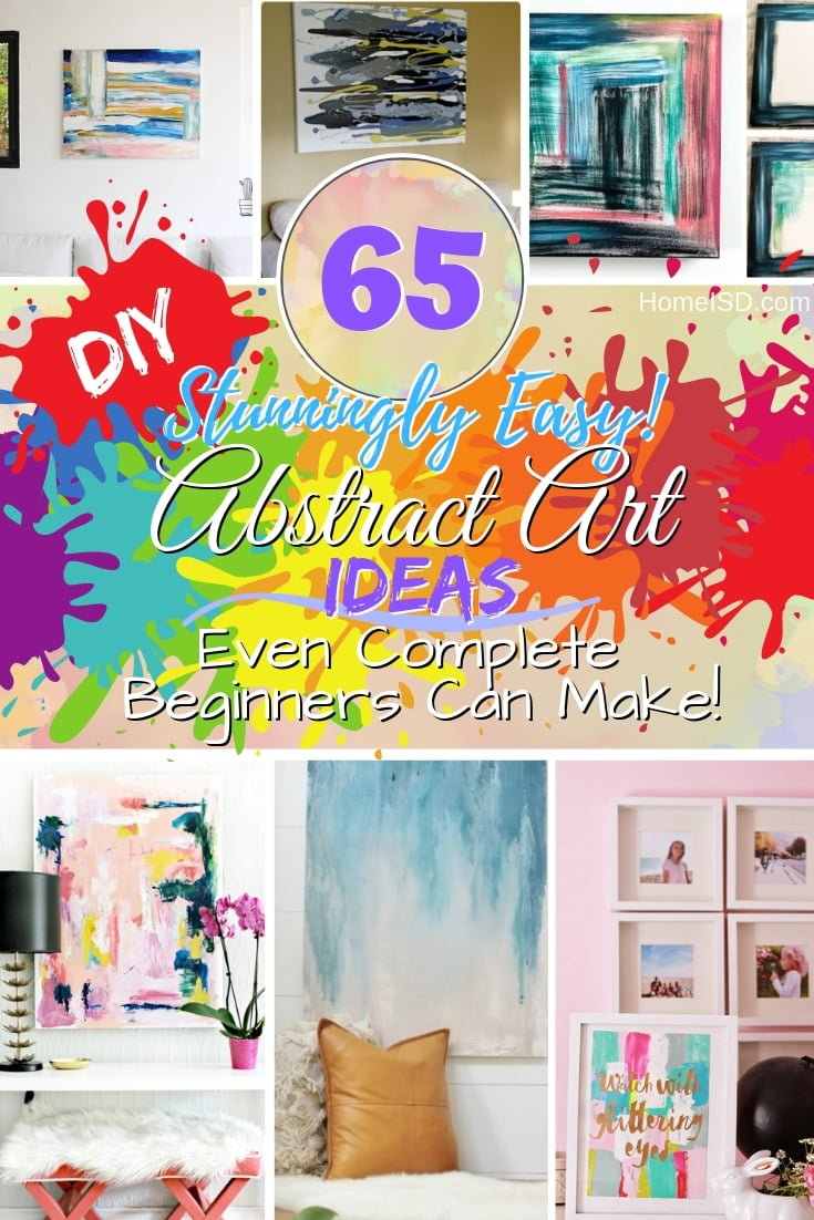 Why spend a ton of money on art when you can DIY abstract art for home decor the easy way!? Great ideas! #homedecor #DIY #art #wallart #abstractart #crafts