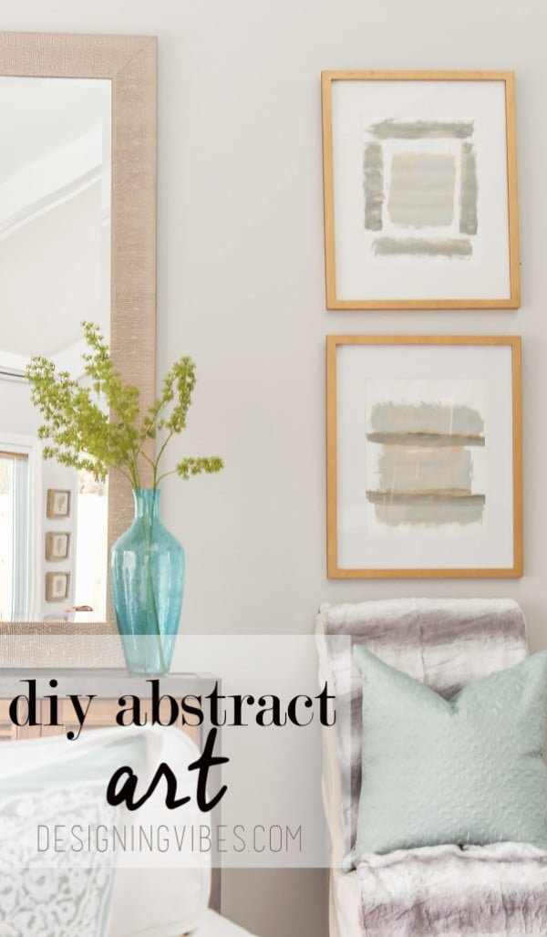 DIY Grey and Gold Abstract Art Tutorial