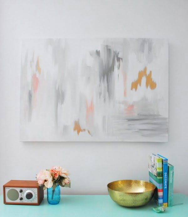 Make Your Own DIY Abstract Art With This Tutorial