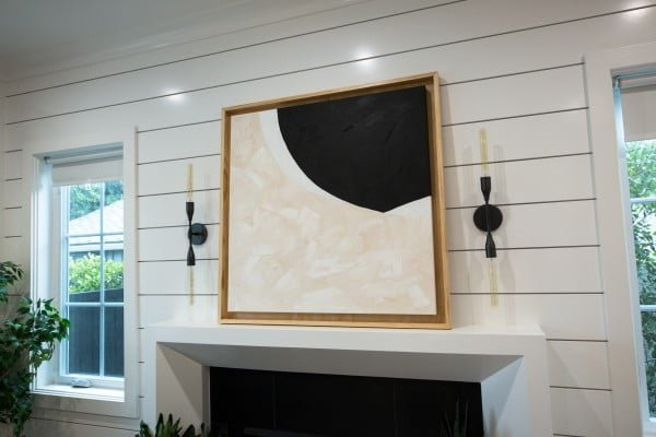 DIY Black and White Abstract Painting