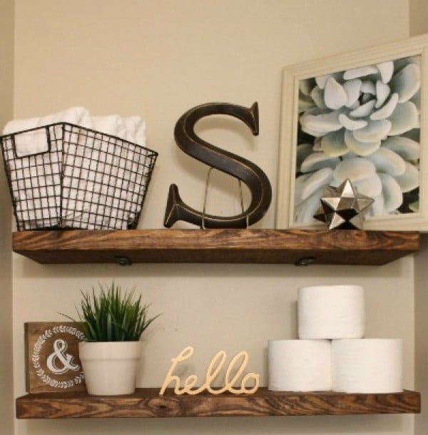 DIY Faux Floating Shelves   decor