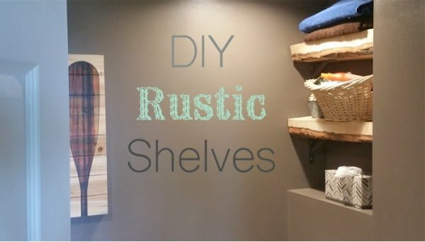 DIY Rustic Bathroom Shelves   decor