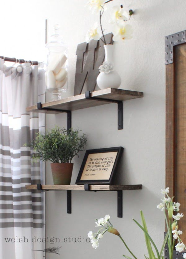 DIY Industrial Shelves for the Bathroom – Welsh Design Studio   decor
