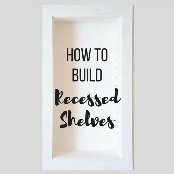 How to Build Recessed Bathroom Shelves   decor