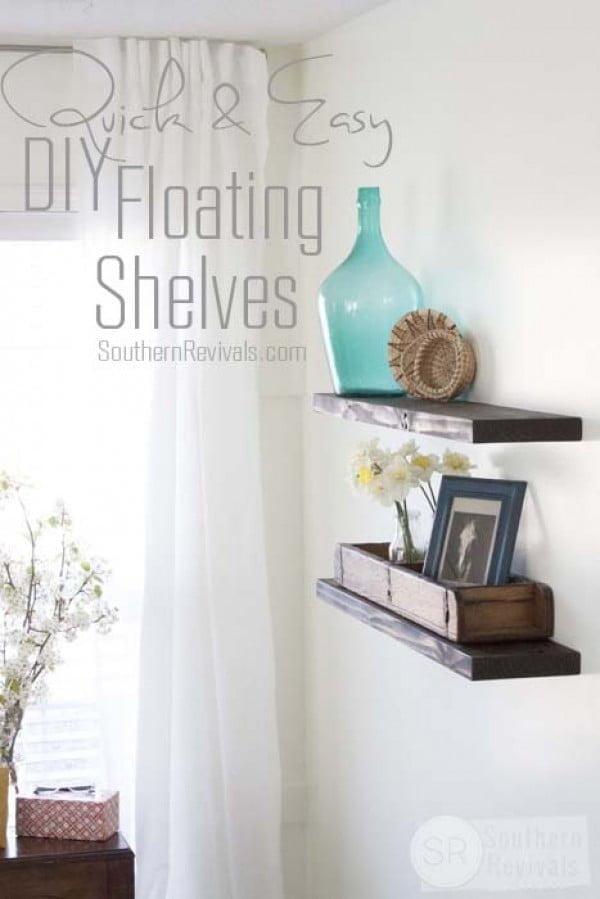 Quick, Easy & Budget friendly DIY Floating Shelves   decor