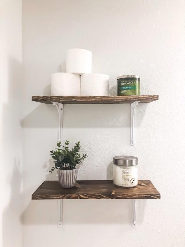 DIY Bathroom Shelves on a Budget   decor