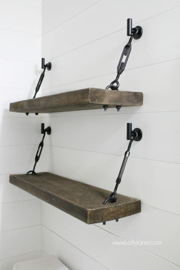 DIY Turnbuckle Shelf   decor