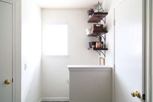 How to Install DIY Open Bathroom Shelves   decor