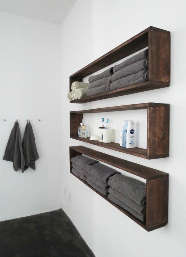 DIY Wall Shelves in the Bathroom   decor