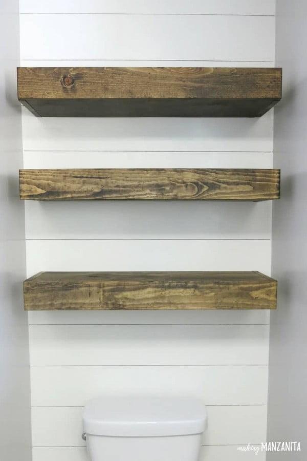 How To Build Bathroom Floating Shelves for Extra Storage   decor