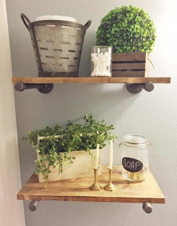 DIY INDUSTRIAL PIPE SHELVING   decor
