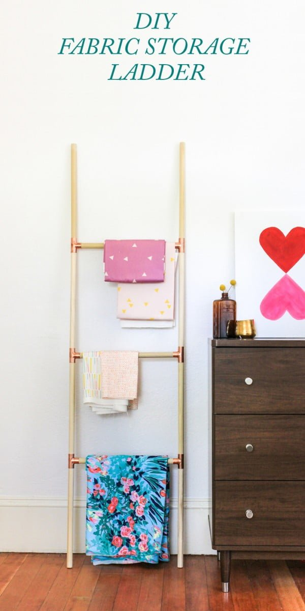 Pinned It, Made It, Loved It: DIY Blanket Ladder #DIY #woodworking #storage #organize #homedecor