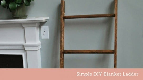 DIY Blanket Ladder for A Baby's Room #DIY #woodworking #storage #organize #homedecor