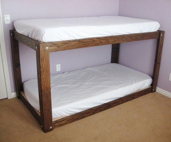Minimalist Bunk Bed #DIY #furniture #bedroomdecor #homedecor