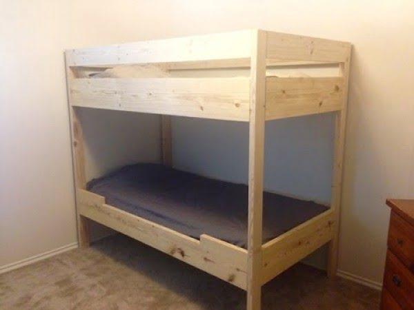 DIY BUNK BED FOR UNDER $100!!! #DIY #furniture #bedroomdecor #homedecor