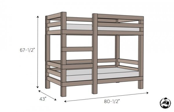 2x4 Bunk Bed » Rogue Engineer