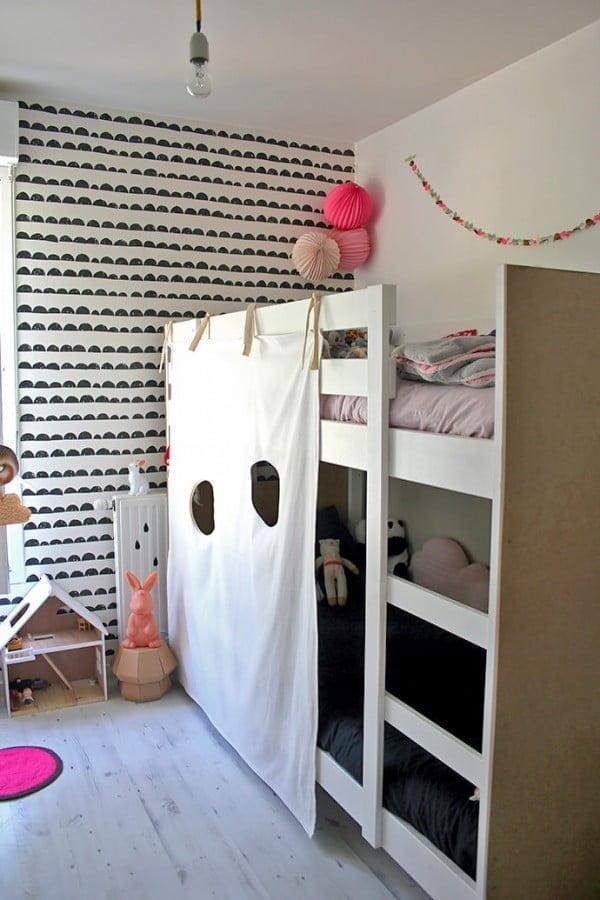 IKEA Hack: DIY Bunk Bed Fort ⋆ Handmade Charlotte #DIY #furniture #bedroomdecor #homedecor
