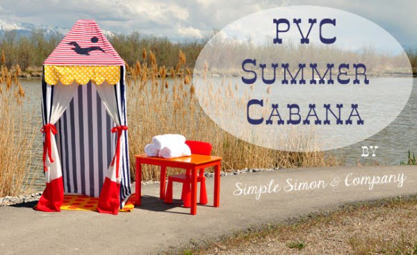 DIY PVC Pipe Summer Cabana Tutorial #DIY #backyard #garden #outdoors