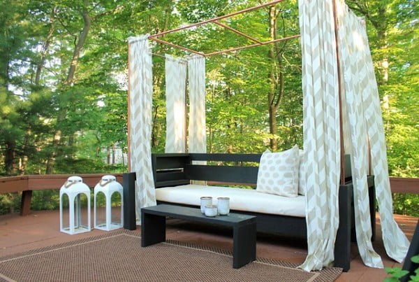 DIY Copper Cabana #DIY #backyard #garden #outdoors