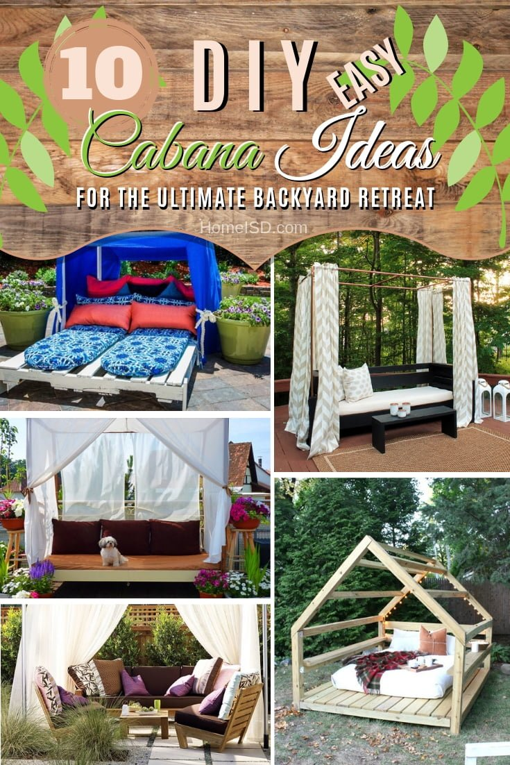 Build the ultimate backyard retreat with a DIY cabana. Choose from these easy ideas! #DIY #woodworking #backyard