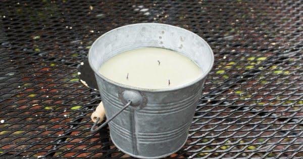 DIY Outdoor Citronella Candle #DIY #candle #homdecor #crafts