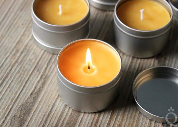 DIY Bourbon & Beeswax Candles #DIY #candle #homdecor #crafts
