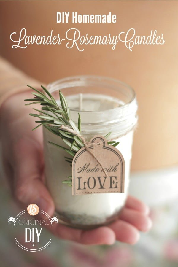 DIY Homemade Candles (with natural lavender-rosemary scent) #DIY #candle #homdecor #crafts