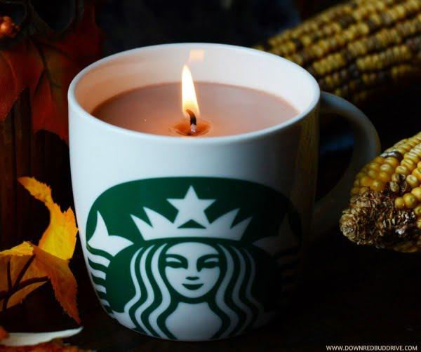 Starbucks Candle #DIY #candle #homdecor #crafts