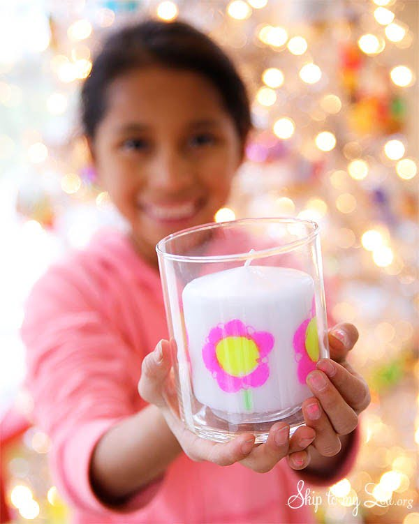 DIY Child's Artwork Candle #DIY #candle #homdecor #crafts
