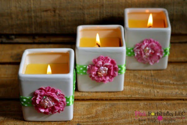 Flowers of Spring DIY Candle #DIY #candle #homdecor #crafts
