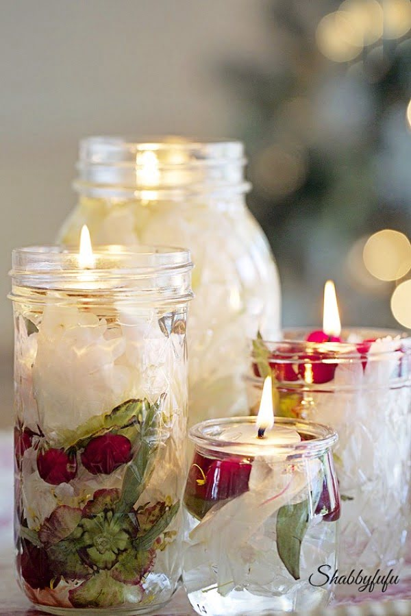 DIY Oil Candle Lights #DIY #candle #homdecor #crafts