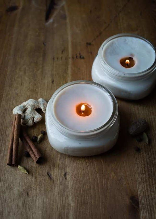 DIY Chai Candles in Canning Jars    s