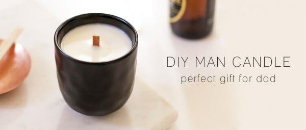 DIY MAN CANDLE #DIY #candle #homdecor #crafts
